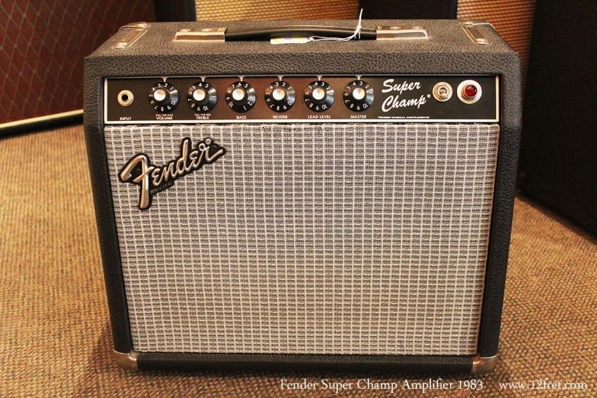Fender Super Champ Amplifier 1983 Full Front View