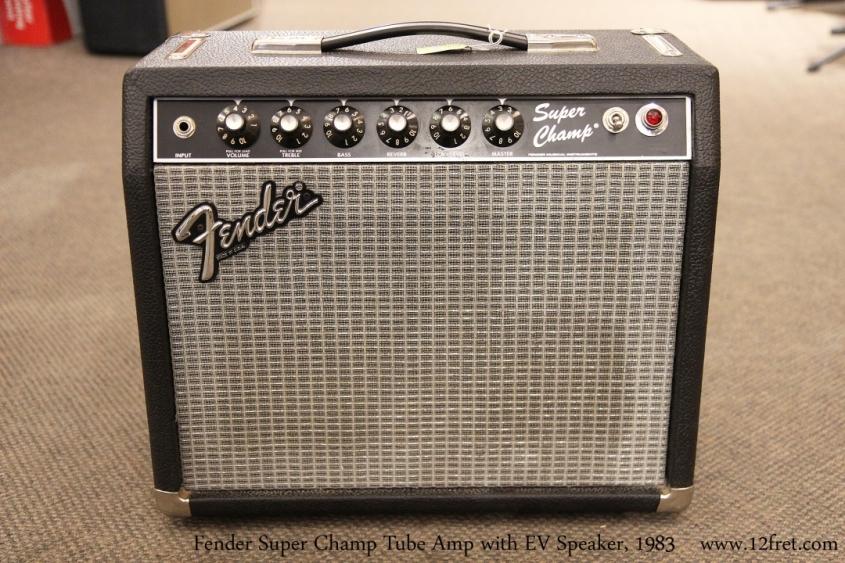 Fender Super Champ Tube Amp with EV Speaker, 1983   Full Front View
