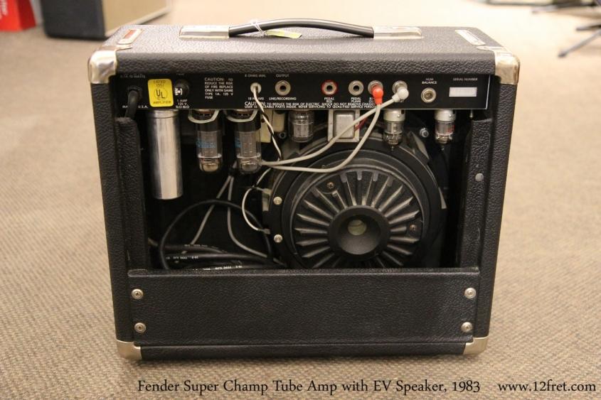 Fender Super Champ Tube Amp with EV Speaker, 1983   Full Rear View