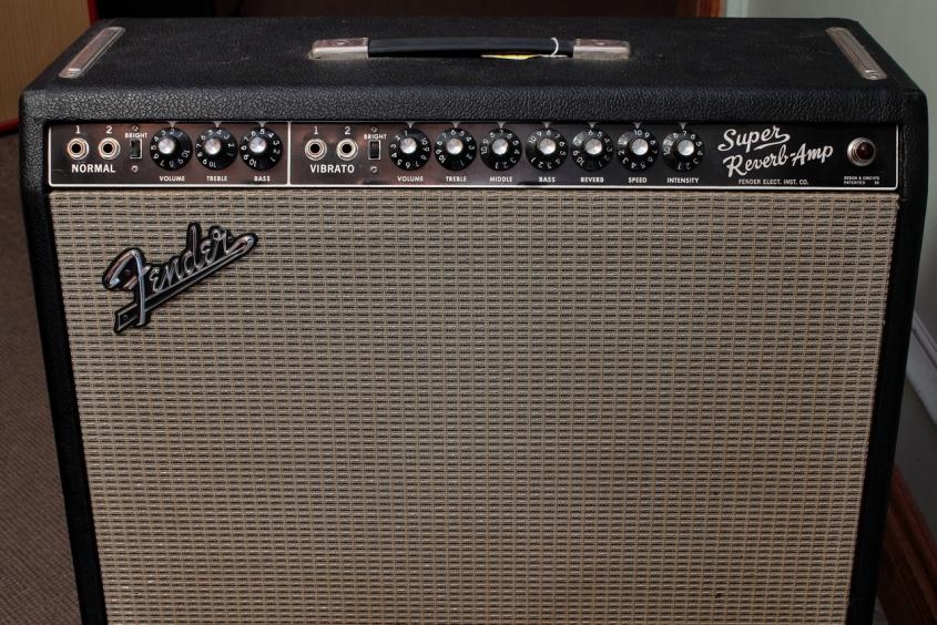 Fender Super Reverb Amp Blackface 1965 front panel