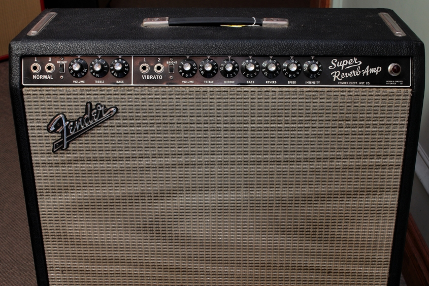Fender Super Reverb Amp Blackface 1965 front panel