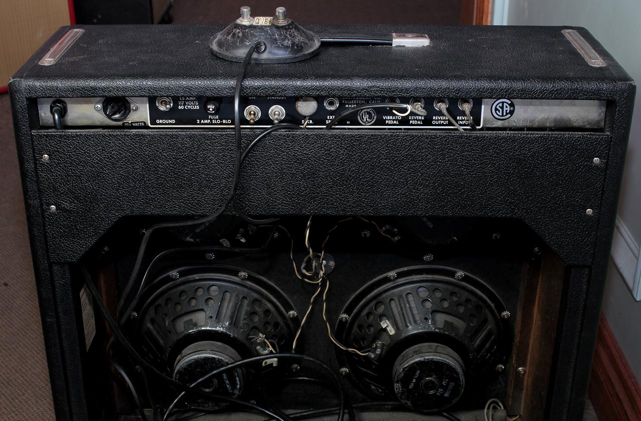 Fender Super Reverb Amp Blackface 1965 back panel