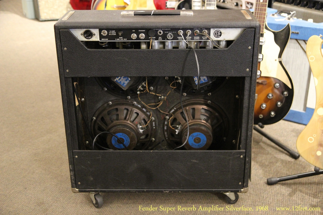 Fender Super Reverb Amplifier Silverface 1968 Full Rear View