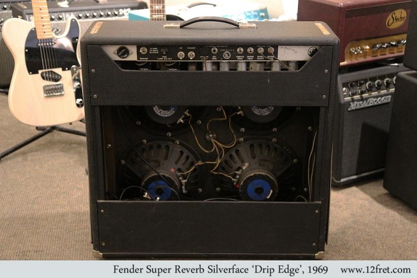 Fender Super Reverb Silverface 'Drip Edge', 1969 Full Rear View