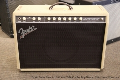 Fender Super Sonic 1x12 60 Watt Tube Combo Amp Blonde, 2006   Full Front View