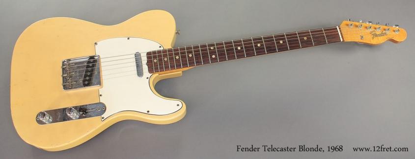 Fender Telecaster Blonde 1968 full front view