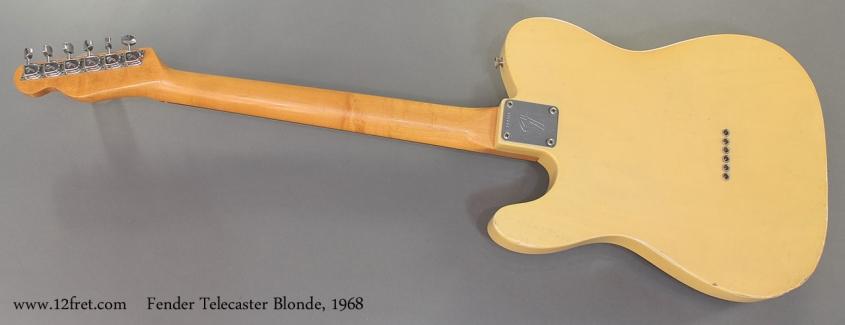 Fender Telecaster Blonde 1968 full rear view