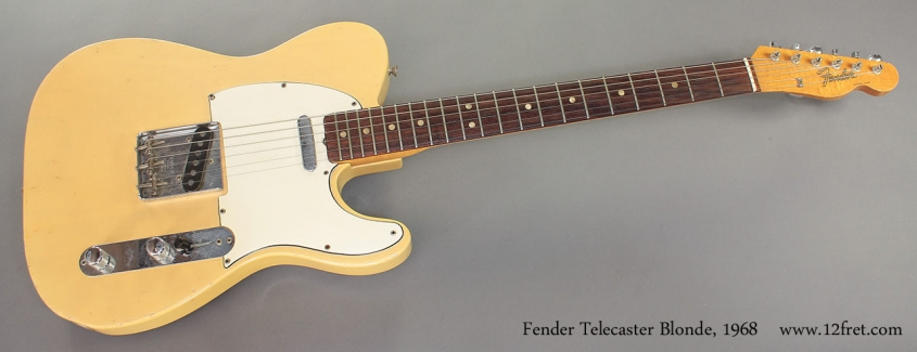Fender Telecaster Blonde 1968 full front view