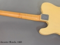 Fender Telecaster Blonde 1968 full rear view