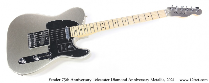 Fender 75th Anniversary Telecaster Diamond Anniversary Metallic, 2021 Full Front View