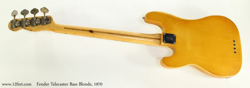 Fender Telecaster Bass Blonde, 1970   Full Rear View