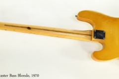 Fender Telecaster Bass Blonde, 1970   Full Rear View