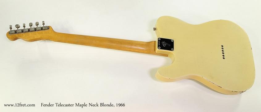 Fender Telecaster Maple Neck Blonde, 1966 Full Rear View