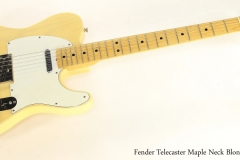 Fender Telecaster Maple Neck Blonde, 1973   Full Front VIew