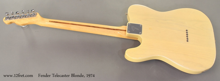 Fender Telecaster Blonde 1974 full rear view