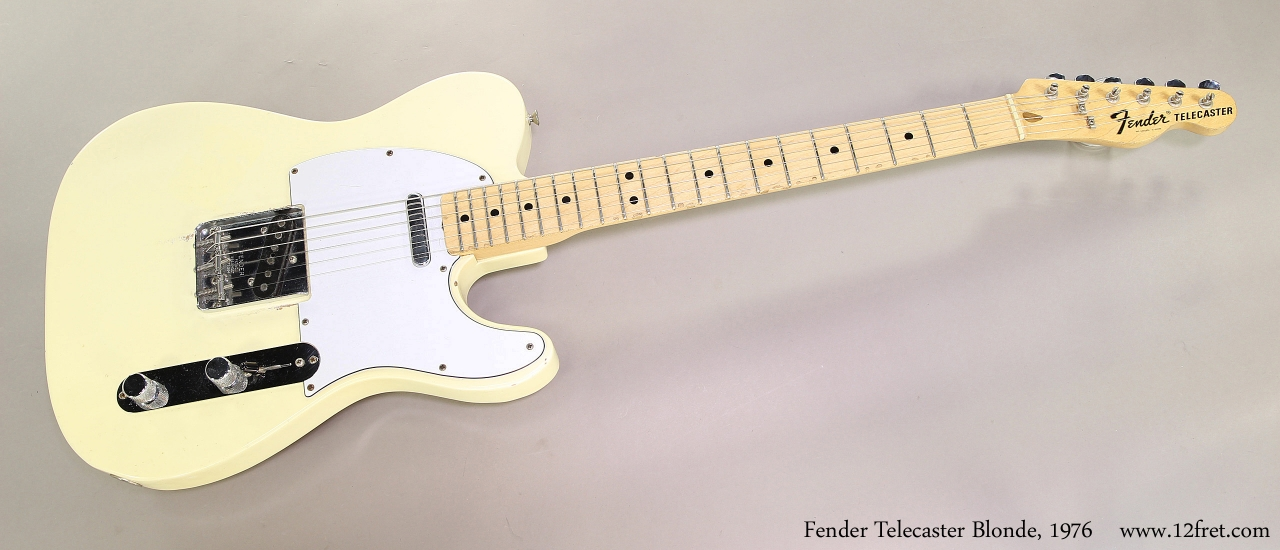 Fender Telecaster Blonde, 1976  Full Front View