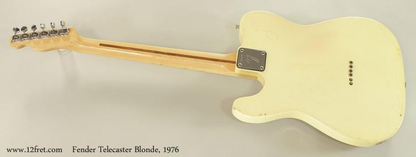Fender Telecaster Blonde, 1976 Full Rear View