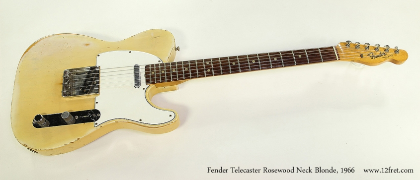 Fender Telecaster Rosewood Neck Blonde, 1966 Full Front View
