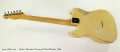 Fender Telecaster Rosewood Neck Blonde, 1966 Full Rear View