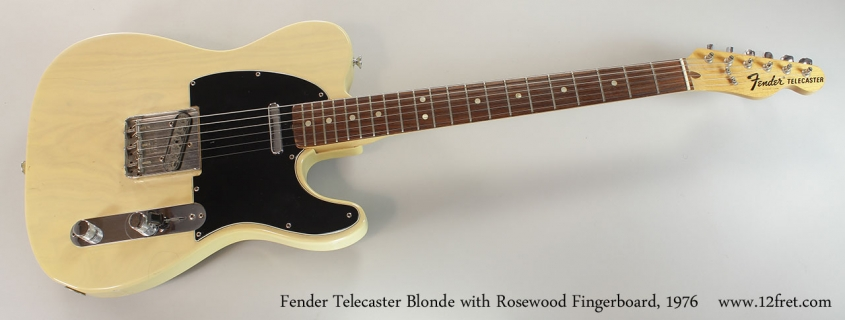 Fender Telecaster Blonde with Rosewood Fingerboard, 1976 Full Front View