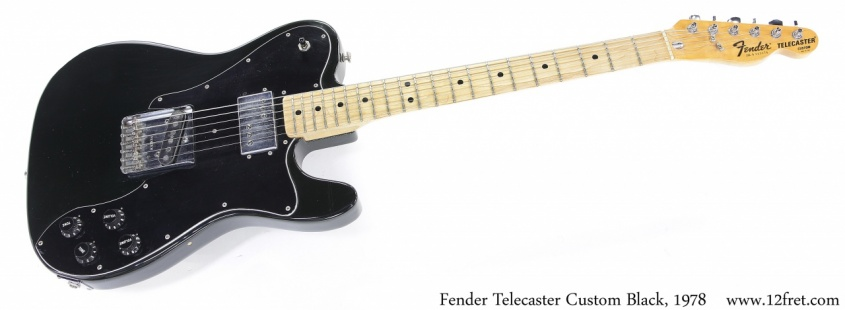 Fender Telecaster Custom Black, 1978 Full Front View