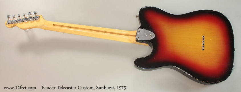 Fender Telecaster Custom, Sunburst, 1975 Full Rear View