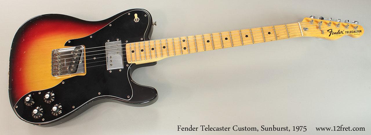 Fender Telecaster Custom, Sunburst, 1975 Full Front View