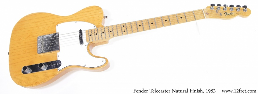 Fender Telecaster Natural Finish, 1983 Full Front View