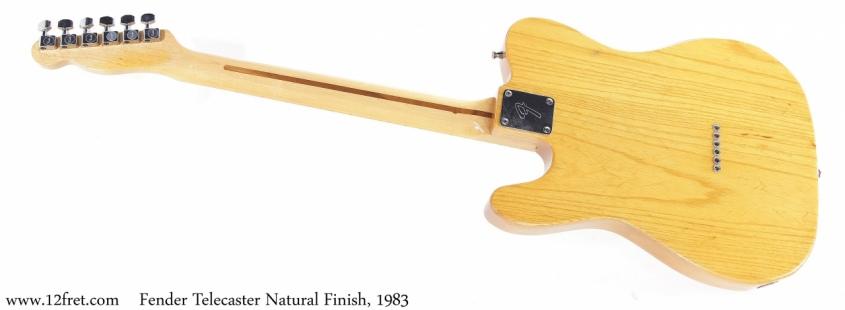 Fender Telecaster Natural Finish, 1983 Full Rear View