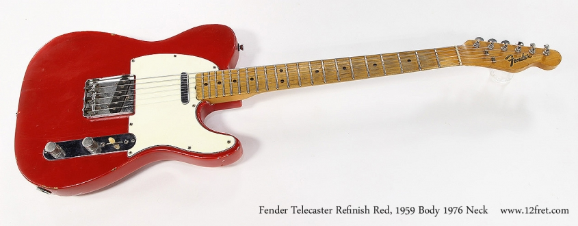Fender Telecaster Refinish Red, 1959 Body 1976 Neck Full Front View