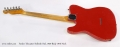 Fender Telecaster Refinish Red, 1959 Body 1976 Neck Full Rear View