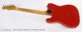 Fender Telecaster Refinish Red, 1959 Body 1976 Neck Full Rear View