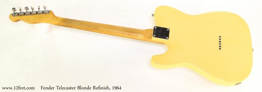 Fender Telecaster Blonde Refinish, 1964    Full Rear VIew