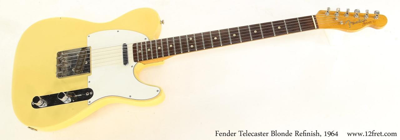 Fender Telecaster Blonde Refinish, 1964    Full Front View