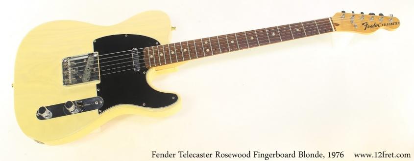 Fender Telecaster Rosewood Fingerboard Blonde, 1976 Full Front View