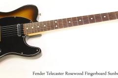 Fender Telecaster Rosewood Fingerboard Sunburst, 1978  Full Front View