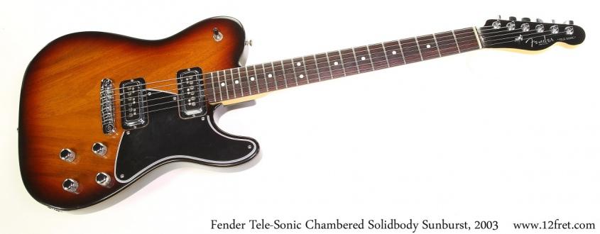 Fender Tele-Sonic Chambered Solidbody Sunburst, 2003 Full Front View