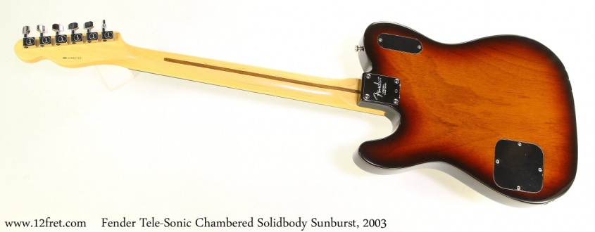 Fender Tele-Sonic Chambered Solidbody Sunburst, 2003 Full Rear View