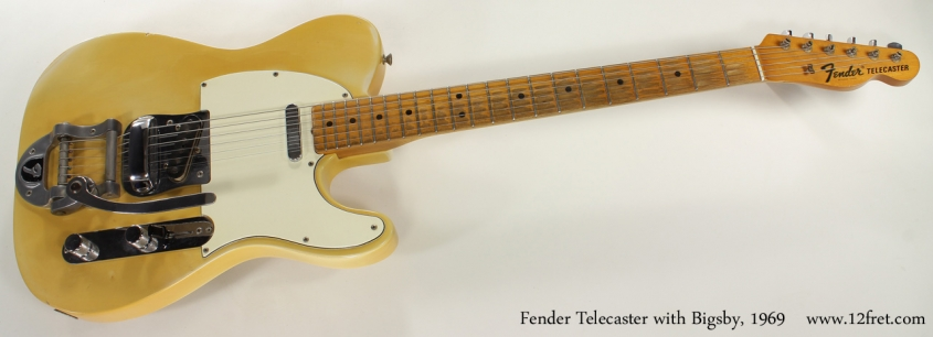 Fender Telecaster with Bigsby 1969 full front view