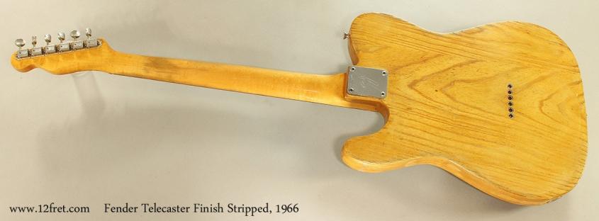 Fender Telecaster Finish Stripped, 1966 Full Rear View