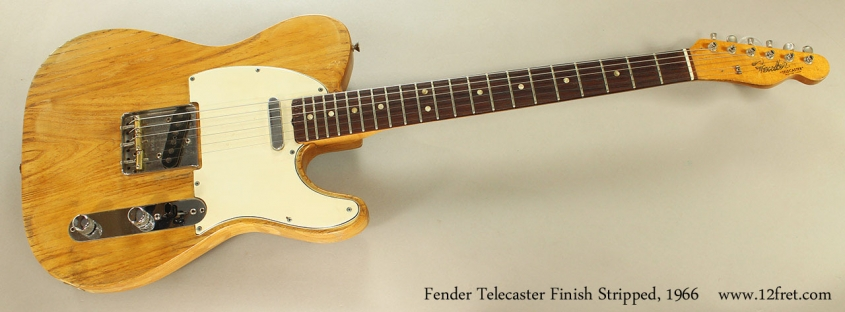 Fender Telecaster Finish Stripped, 1966 Full Front View