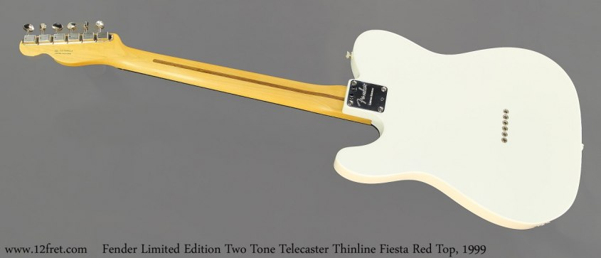 Fender Limited Edition Two Tone Telecaster Thinline Fiesta Red Top, 1999 Full Rear View
