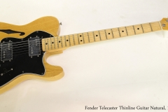 Fender Telecaster Thinline Guitar Natural, 1978 Full Front View