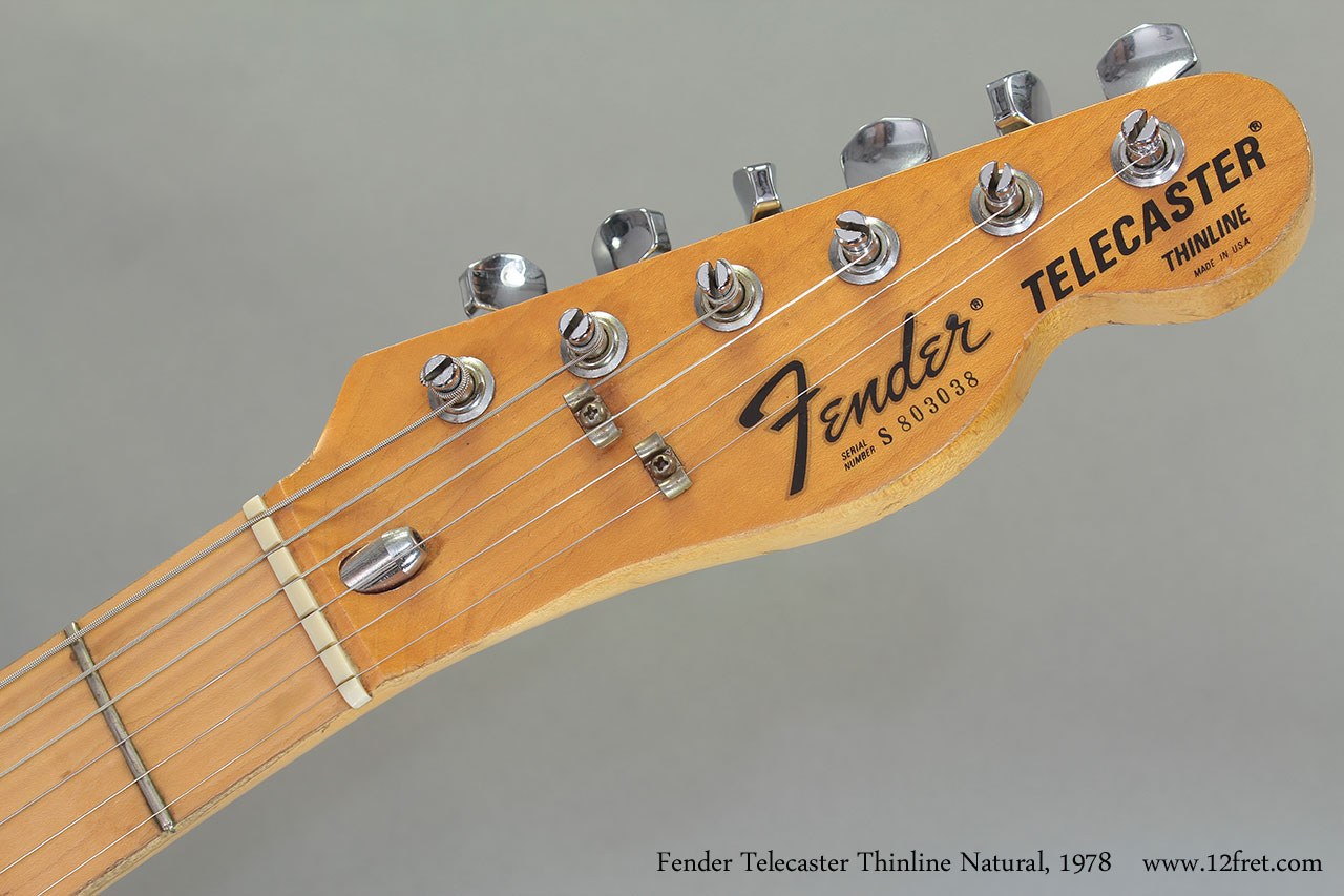 1978 Fender Telecaster Thinline Natural head front