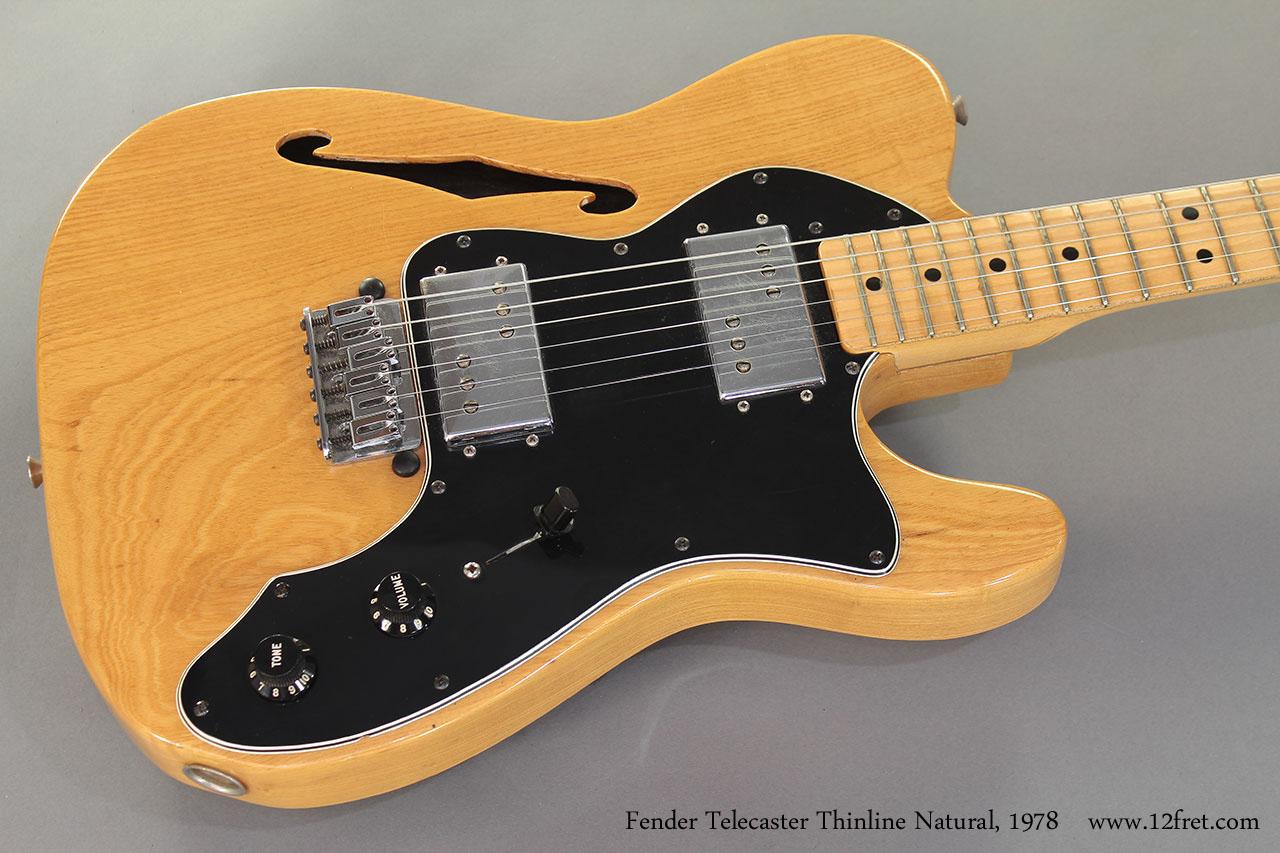 1978 Fender Telecaster Thinline Natural top