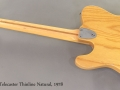 1978 Fender Telecaster Thinline Natural full rear view