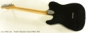 Fender Telecaster Custom Black 1974 full rear view