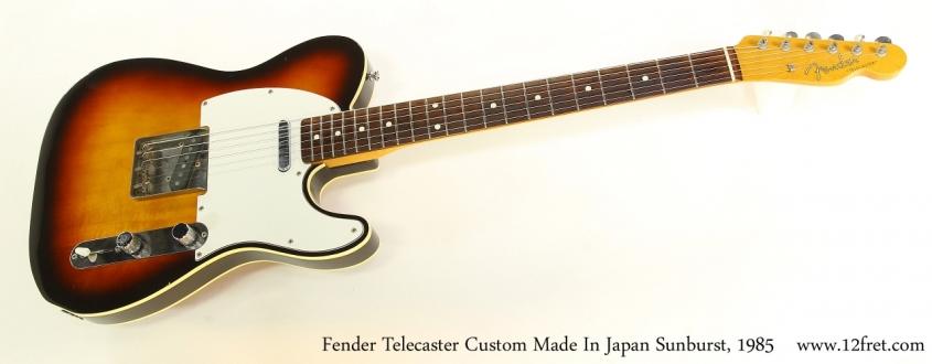Fender Telecaster Custom Made In Japan Sunburst, 1985   Full Front View