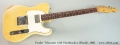 Fender Telecaster with Humbucker, Blonde, 1966 Full Front View