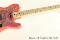 Fender MIJ Telecaster Red Paisley, 1994 Full Front View